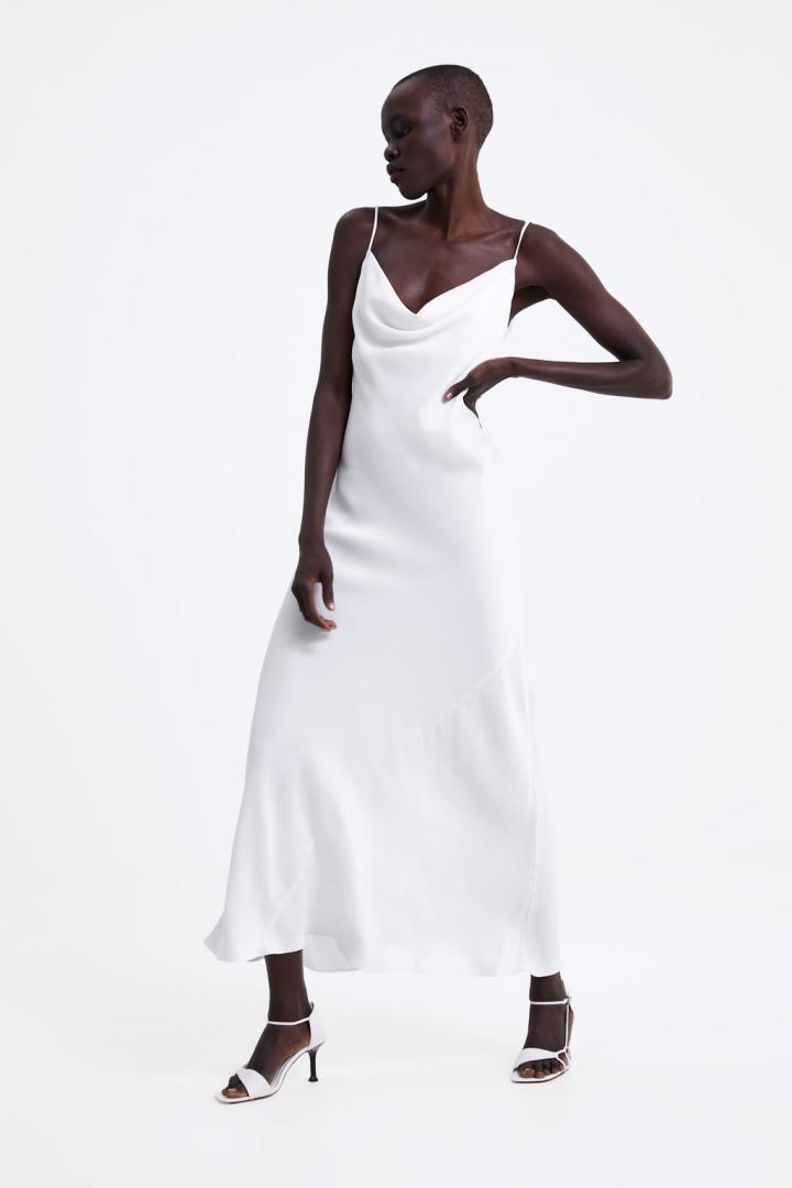 Robe blanche soiree zara