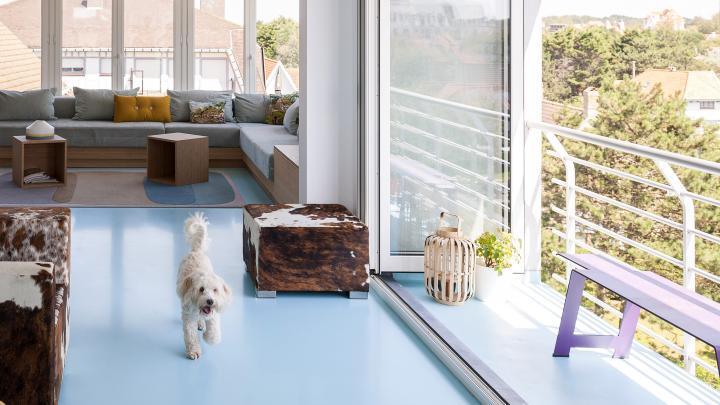 Binnenkijken het moderne appartement aan zee