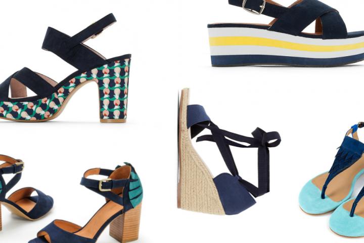 12 versions ultra tendance de la sandale bleu marine 96361434b33a