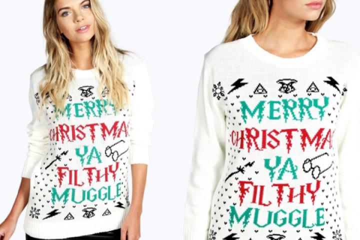 Kersttrui Stelletje.Deze Ugly Christmas Sweater Is Perfect Voor Alle Harry Potter Fans