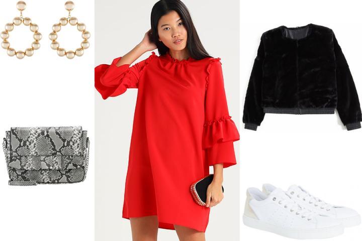 2ee55cc8b2605f 8 stijlvolle manieren om je rode jurk te combineren