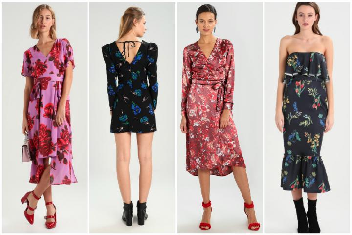 46a60987431 ... la tendance florale habille notre garde-robe des fêtes de jolies  couleurs. La robe fleurie côtoie les incontournables fourreaux en velours et  à sequins ...