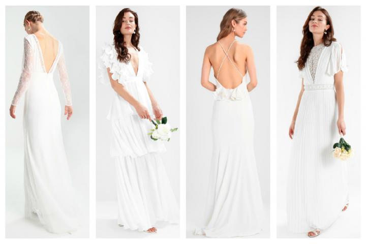 3bc8da9b1d7 ALERTE  Zalando fait le plein de robes longues de mariée à prix mini
