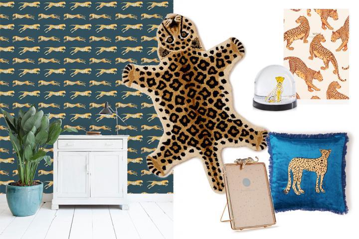 Shoppen haal de luipaardprint de trend van het moment nu in huis