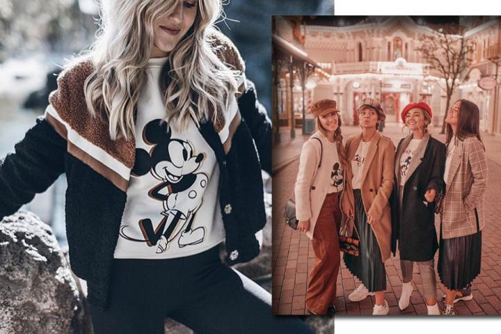 3abd0666d0fb8 ON VEUT  le sweatshirt Stradivarius x Mickey Mouse