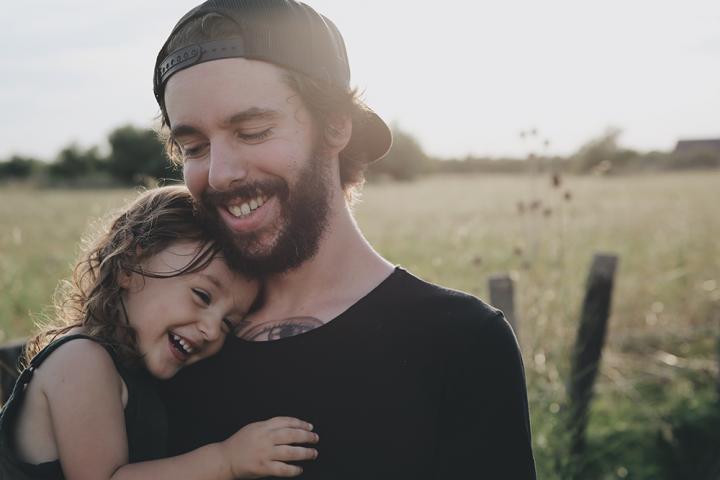 Man met kinderen