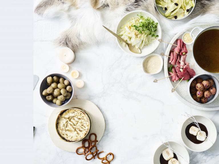 Kerstmenu: fondue 1