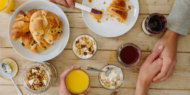 Petit-déjeuner en amoureux