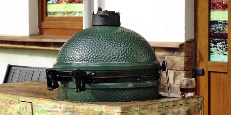 Kamado of keramische houtskoolbarbecue (type Green Egg)