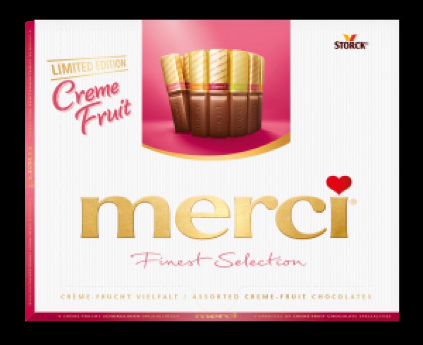 Boîte de chocolats merci édition limitée crème fruitée