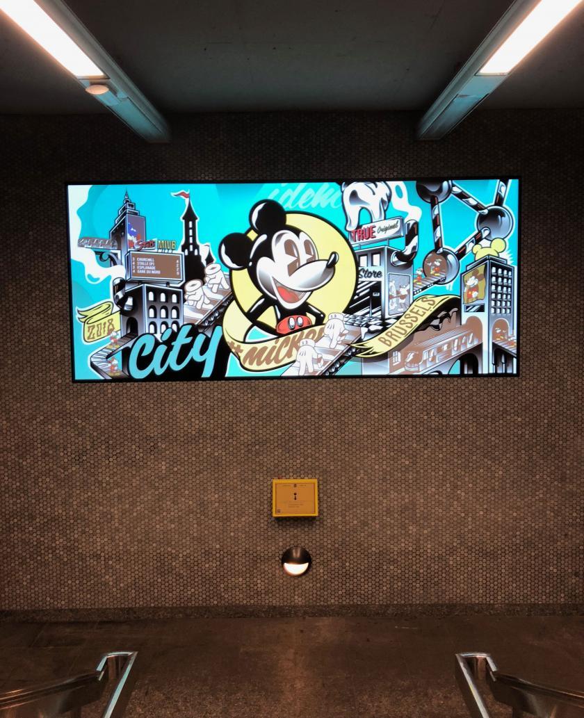Mickey fête ses 90 ans station Rogier
