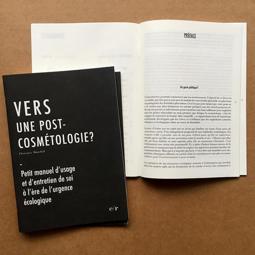 Vers une post-cosmétologie?, par Florence Marchal, Espaces Regards Editions