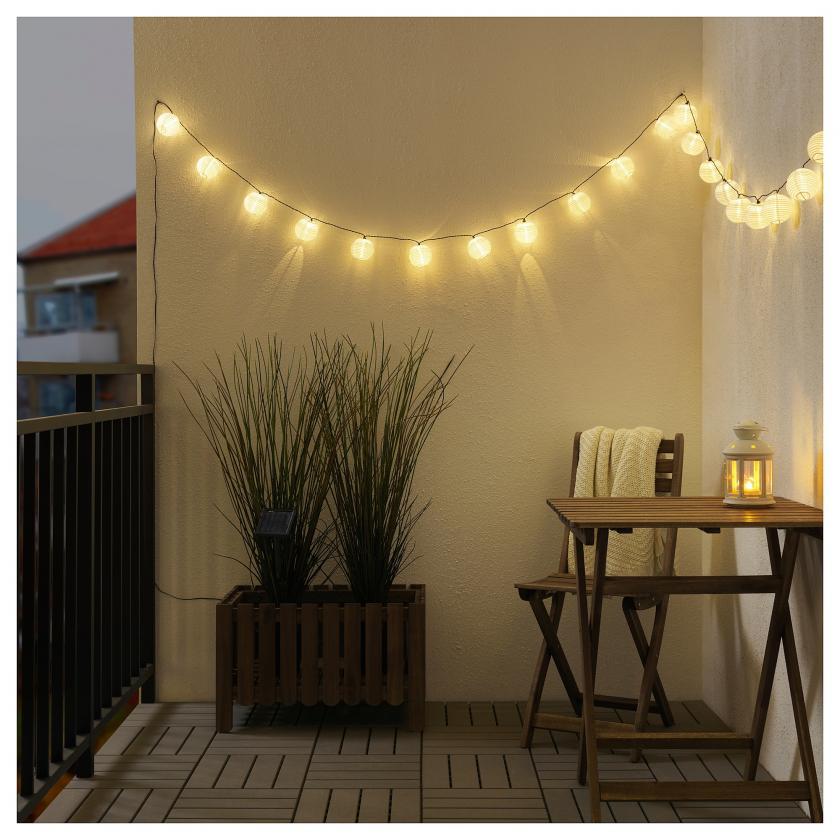 Guirlande lumineuse solaire Solarvet IKEA
