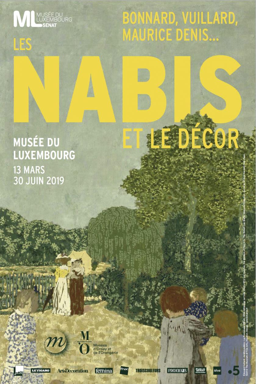 """Affiche """"Nabis et le décor"""" expositions au Musée du Luxembourg"""