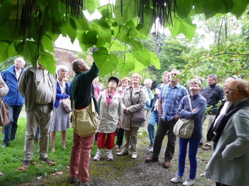 Visite des jardins d'Avroy
