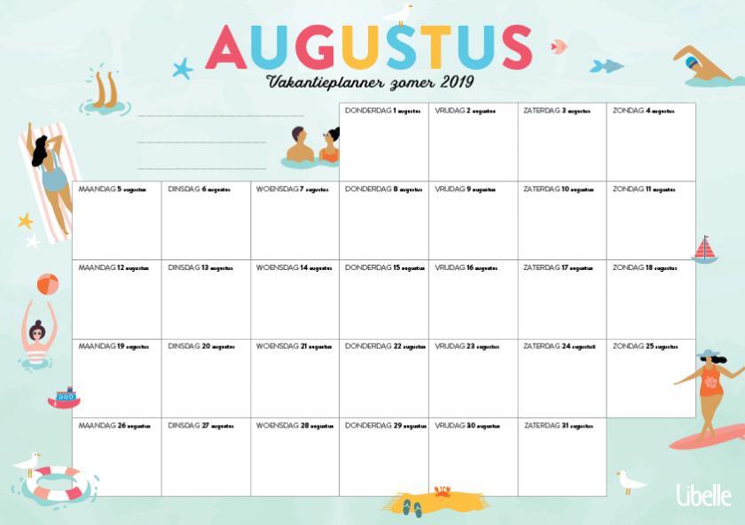 Libelle zomerplanner augustus 2019