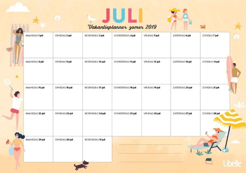 Libelle zomerplanner juli 2019