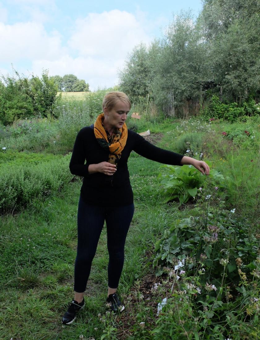 Christie Michel, maraîchère spécialisée dans les herbes aromatiques et médicinales (Les Herbes de Bruxelles)