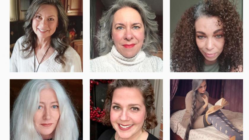 Grombre Le Compte Instagram Dedie Aux Femmes Qui Assument Leurs Cheveux Gris Femmes D Aujourd Hui