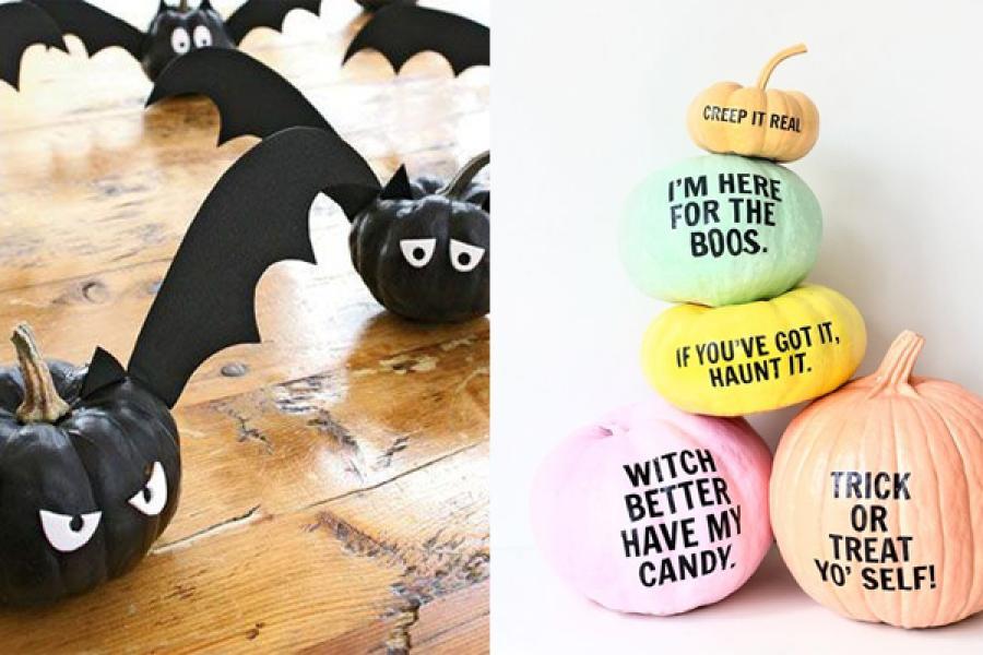 Pompoen En Halloween.14 Ideetjes Om Je Pompoen Te Versieren Voor Halloween Zonder
