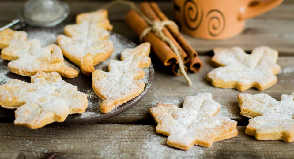 Original: des biscuits faits à partir des feuilles d'automne