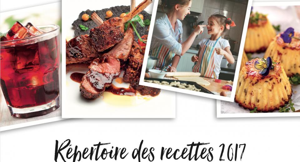 Répertoire des recettes 2017