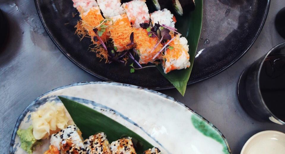 Scoren met sushi