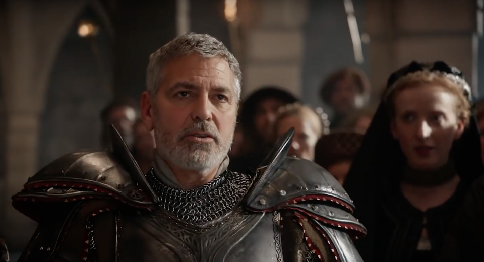 On a bien ri: George Clooney en vaillant chevalier, parodie Game of Thrones (vidéo)