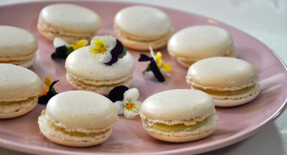 Macaron mangue passion vanille, une recette de Mélanie (Le Meilleur Pâtissier)