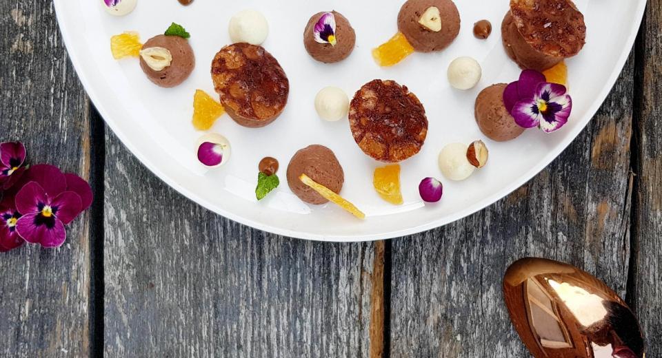 Mousse au chocolat aux couleurs d'automne, une recette de Mélanie (Le Meilleur Pâtissier)