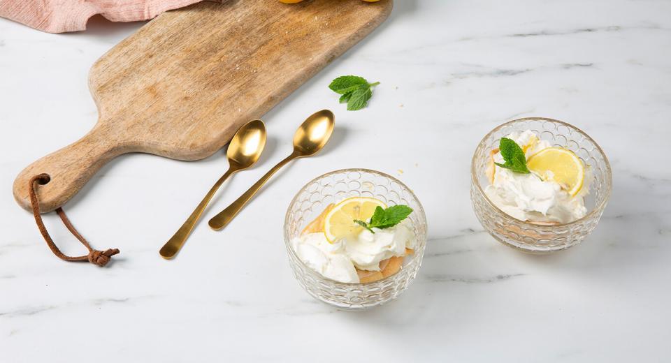 Desserts in een glaasje