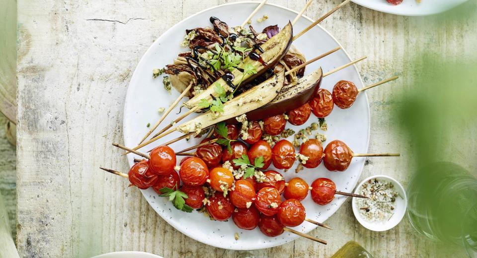 5 recettes de brochettes végétariennes