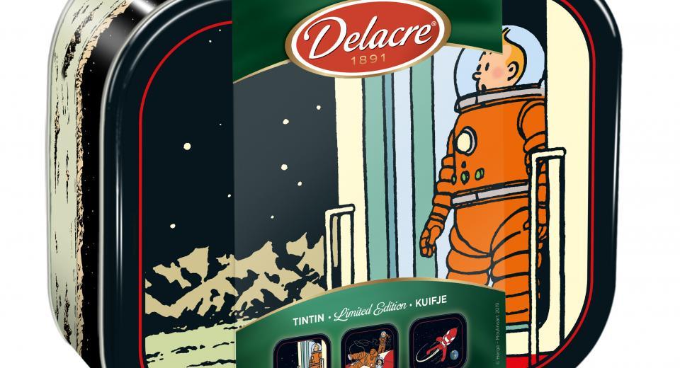 Tintin est à l'honneur sur la nouvelle boîte Delacre
