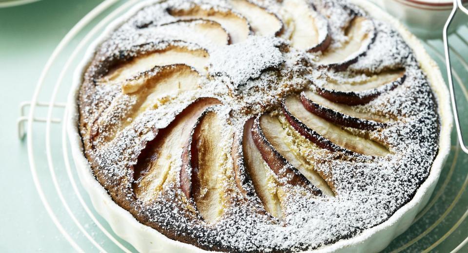 Perfect voor bij de koffie: appelcake met Griekse yoghurt