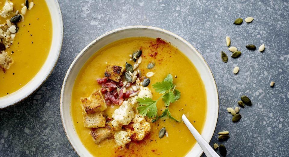 14x soep met croutons