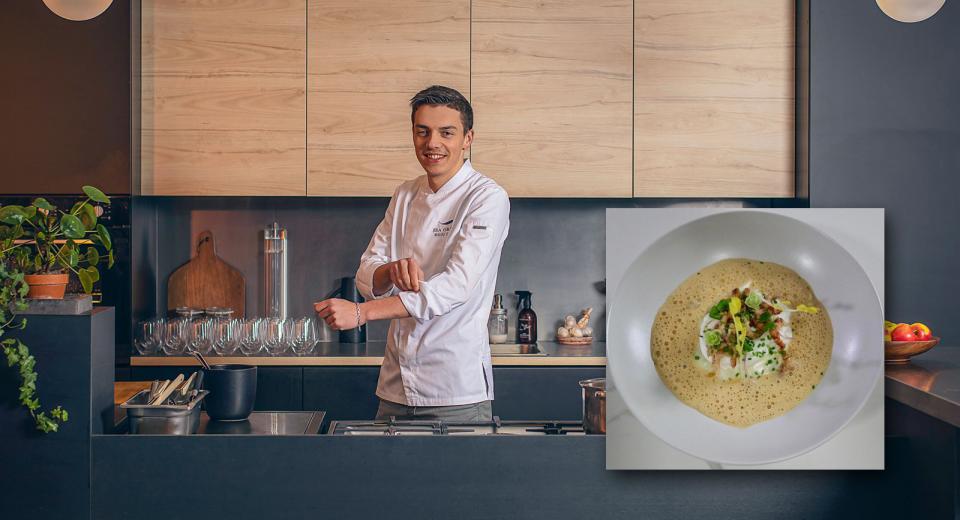 Top Chef 2020 L œuf Poche Crevettes Et Espuma Poireaux De