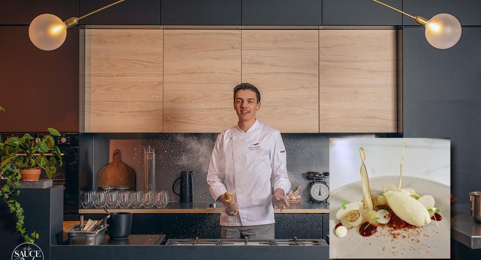 Top Chef 2020: la poire Doyenné au fromage et sirop de Liège de Mallory