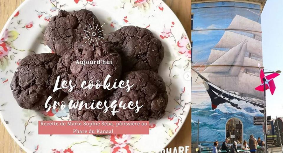 Recette de chef: les cookies browniesques du Phare du Kanaal