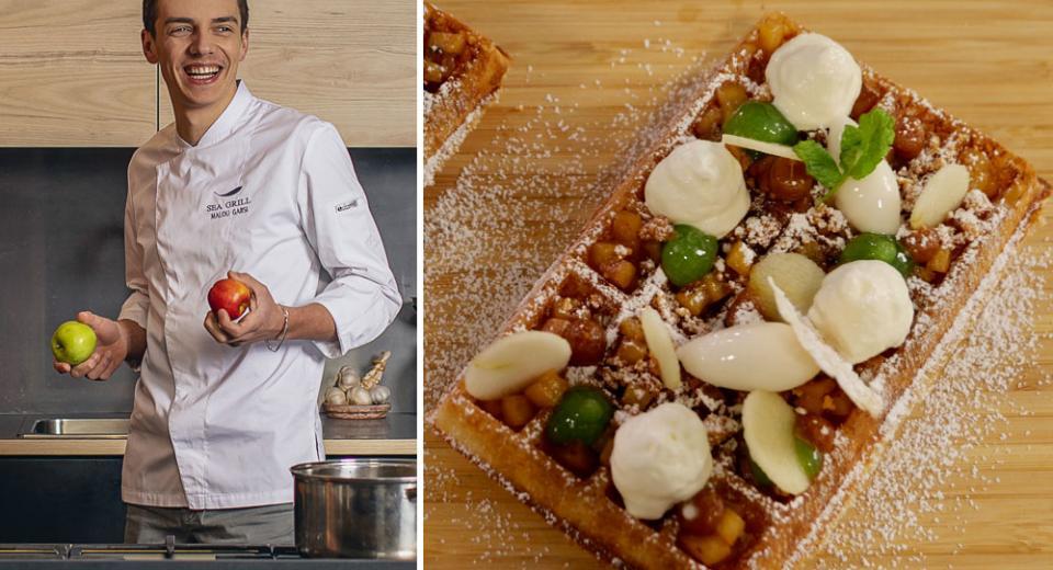 Top Chef 2020: les gaufres à la pomme et crumble amandes de Mallory