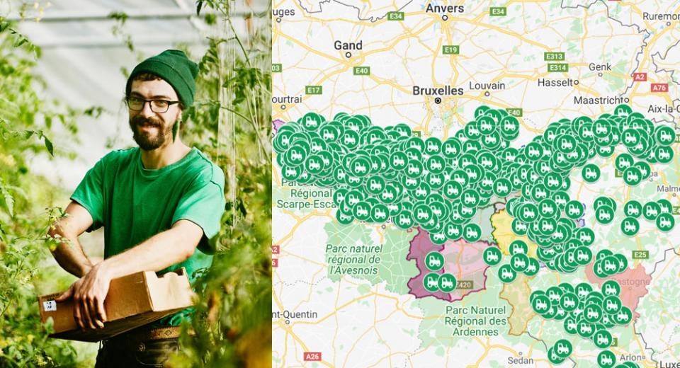 Trouvez tous les agriculteurs en vente directe près de chez vous grâce à cette carte