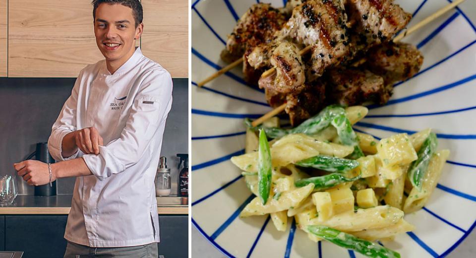 Top Chef 2020: la brochette sauce barbecue et salade de penne de Mallory
