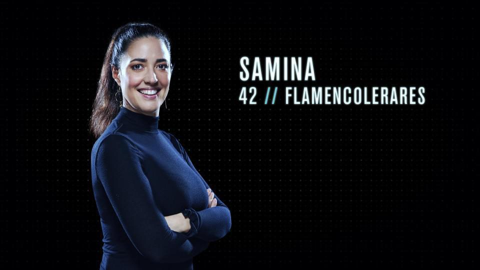 """Samina (42) - Flamencolerares uit Houthalen: """"Ik zou een goede Mol zijn omdat ik me goed kan inleven in verschillende situaties, helemaal kan opgaan in het spel en mensen zeker iets kan wijsmaken."""""""