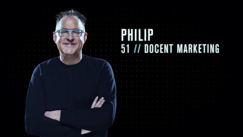 """Philip (51) - Docent marketing uit Burcht: """"Als docent is spreken mijn job. Dus ik kan mij heel goed en snel ergens uitpraten. Daarom zou ik een goede Mol kunnen zijn."""""""