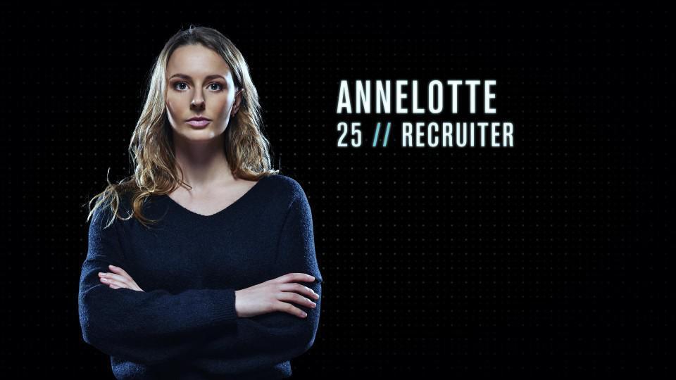 """Annelotte (25) - Recruiter uit Dilbeek: """"Ik zou een goede Mol zijn omdat ik wel talent heb voor manipulatie. Ik kan ook ver gaan om iemand zijn of haar drijfveer te kennen."""""""