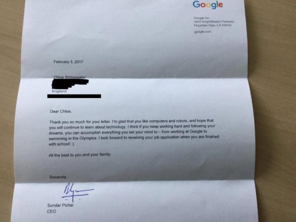 réponse google