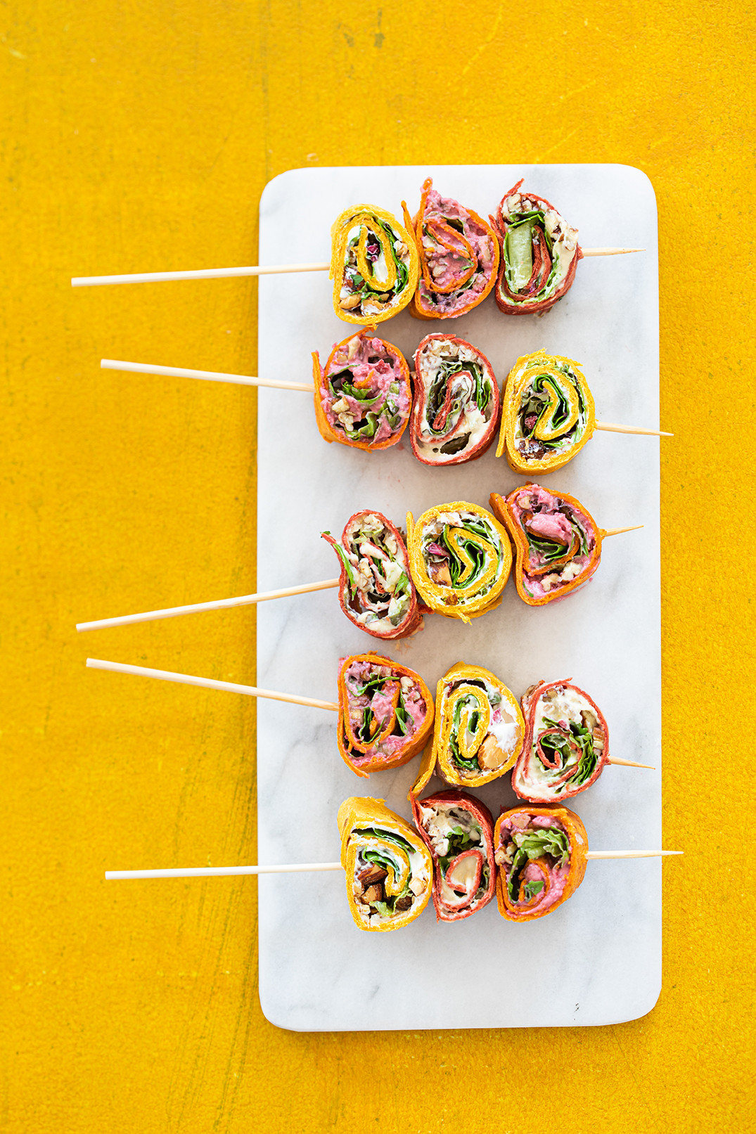 Recepten met wraps: spiesjes