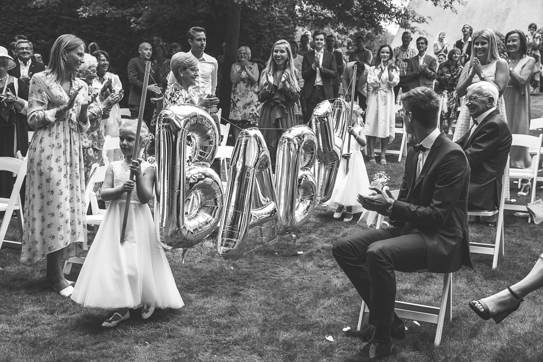 Zwangerschapsaankondiging bruiloft