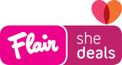 Flair Shedeals logo