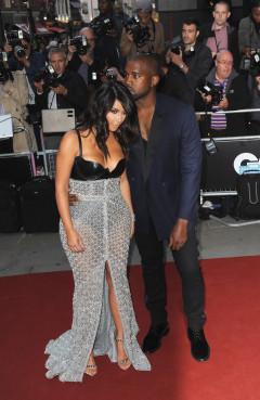 Kim Kardashian en Kanye West op GQ