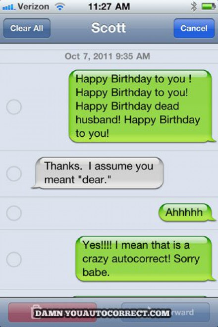 autocorrect sms grappig